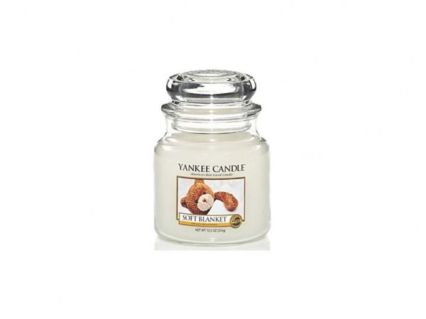 Yankee Candle vonná svíčka Soft Blanket Classic střední - 411 g