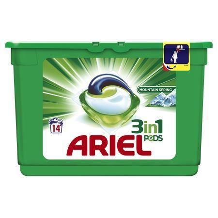 ARIEL gelové kapsle na praní bílého prádla 11 ks