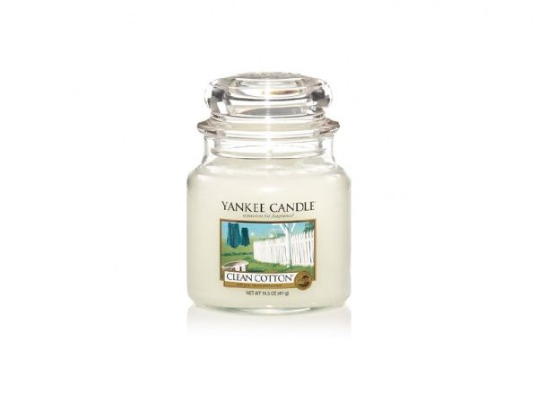 Yankee Candle vonná svíčka Clean Cotton Classic střední - 411 g