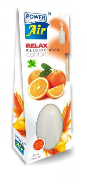Dekorativní osvěžovač vzduchu s ratanovými tyčinkami 85 ml - Pomeranč