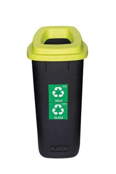 Plafor Odpadkový koš na tříděný odpad 90 l - zelený, sklo
