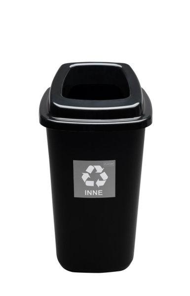 Odpadkový koš na tříděný odpad 45 l - černý, směsný odpad