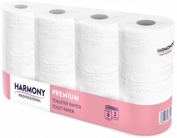 Harmony Professional Toaletní papír, 3 vr. - 8 kusů