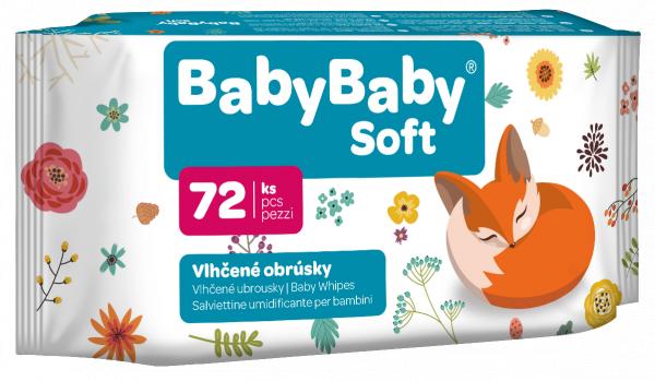 Vlhčené ubrousky Baby Soft 72 ks