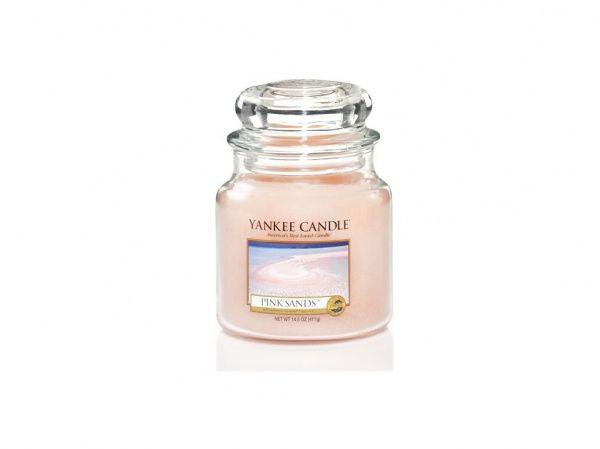 Yankee Candle vonná svíčka Pink Sands Classic střední - 411 g