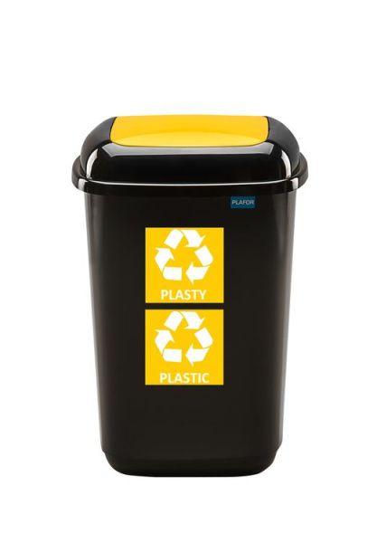 Plafor Odpadkový koš na tříděný odpad 28 l - žlutý, plast
