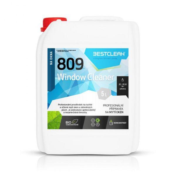BESTCLEAN 809 mytí oken, nano ochrana - green herbs 5 l