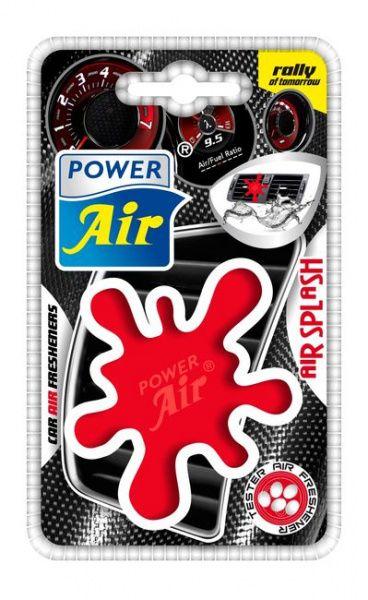 Power Air Moderní plastový osvěžovač skvrna červený