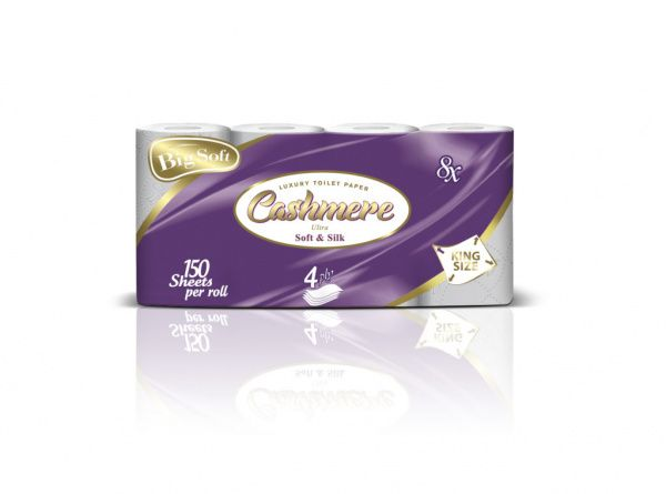 Big Soft Toaletní papír Cashmere, 4 vrstvy - 8 kusů