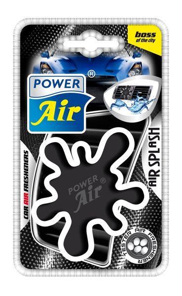 Power Air Moderní plastový osvěžovač skvrna černý