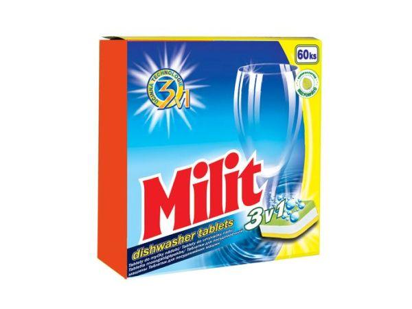 MILIT tablety do myčky nádobí 60 kusů