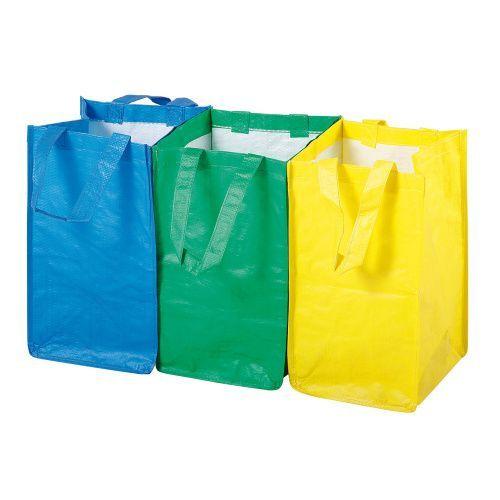 Tašky na tříděný odpad 3 x 21 l