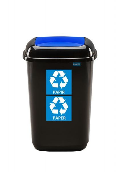 Plafor Odpadkový koš na tříděný odpad 28 l - modrý, papír