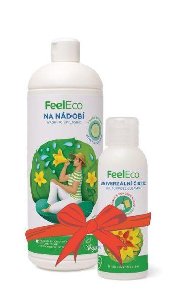 Feel Eco prostředek na nádobí s vůní okurky 1 l + univerzální čistič 100 ml ZDARMA