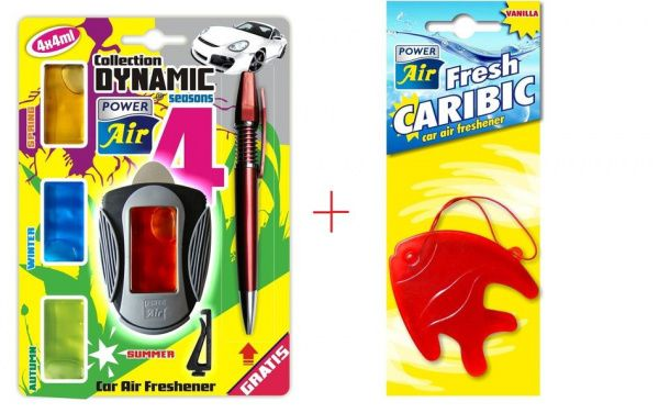 Membránový osvěžovač vzduchu 4 náplně + vanilkový osvěžovač ZDARMA