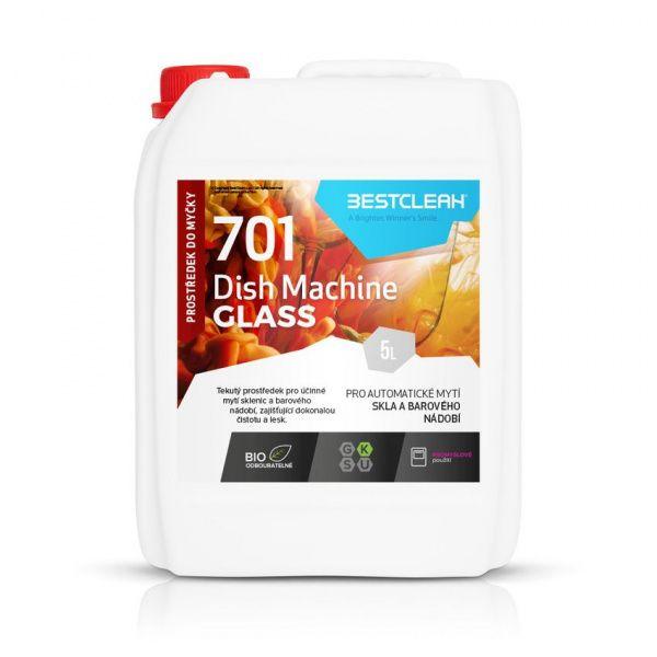 BESTCLEAN 701 prostředek na mytí sklenic a barového nádobí - 5 l