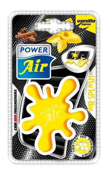 Power Air Moderní plastový osvěžovač skvrna žlutý