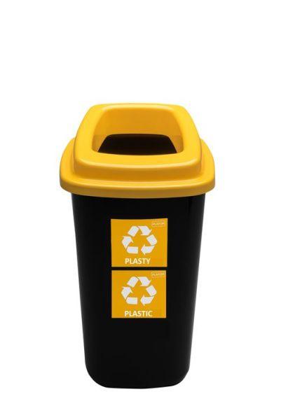 Plafor Odpadkový koš na tříděný odpad 45 l - žlutý, plast