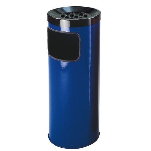 Odpadkový koš s popelníkem modrý - 30 l