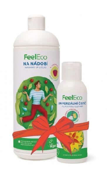 Feel Eco prostředek na nádobí s vůní maliny 1 l + univerzální čistič 100 ml ZDARMA