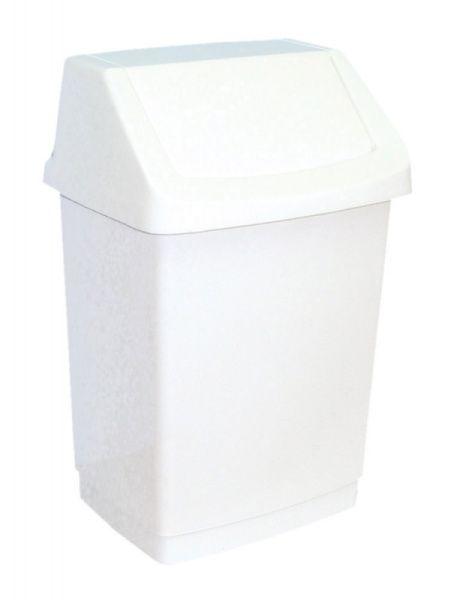 Merida% Koš na odpadky s víkem hranatý bílý 25 l