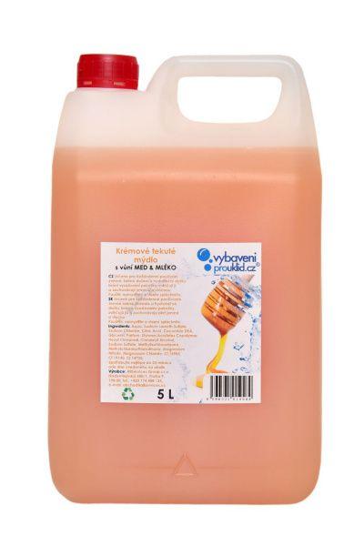 Tekuté mýdlo s vůní medu a mléka - 5 l