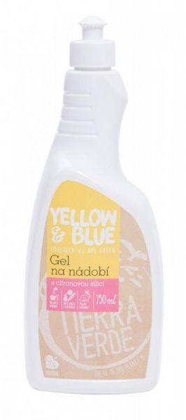 TIERRA VERDE Yellow&Blue Gel na nádobí (750 ml) - z mýdlových ořechů v biokvalitě