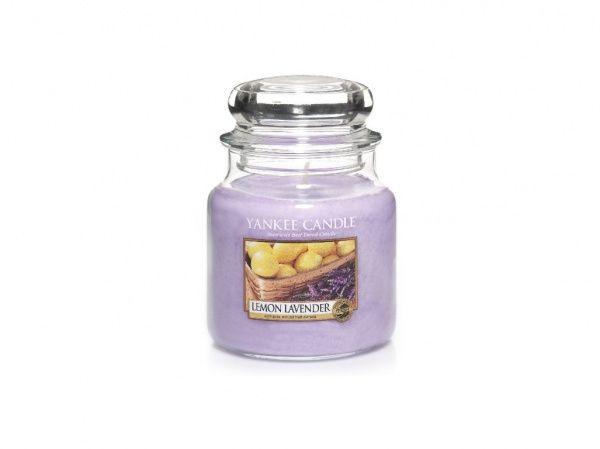 Yankee Candle vonná svíčka Lemon Lavender Classic střední - 411 g