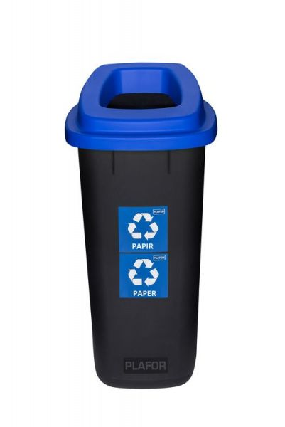 Plafor Odpadkový koš na tříděný odpad 90 l - modrý, papír