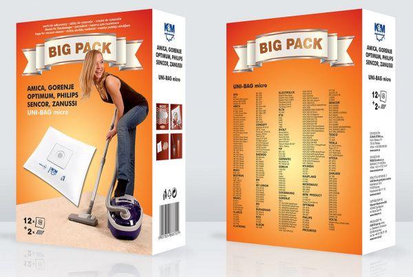 K&M BIG PACK UNI-BAG Sáčky do vysavače micro 12 ks + 2 filtry