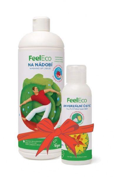Feel Eco prostředek na nádobí, ovoce a zeleninu 1 l + univerzální čistič 100 ml ZDARMA