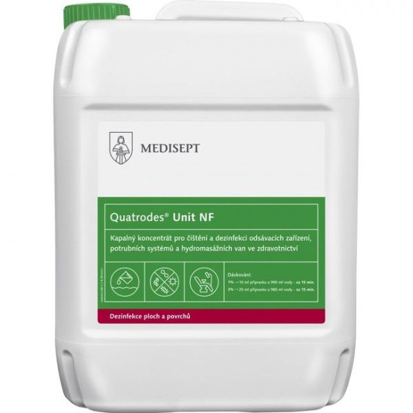 Quatrodes UNIT NF koncentrát k dezinfekci odsávacích zařízení - 5 l
