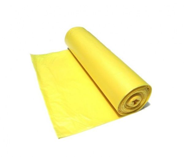 Sáčky do koše 30 l, 50 x 60 cm, v roli 25 ks, 30 um, žluté