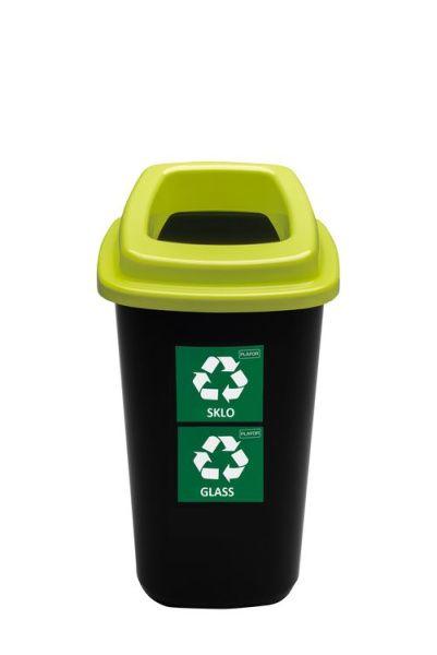 Plafor Odpadkový koš na tříděný odpad 45 l zelený, sklo
