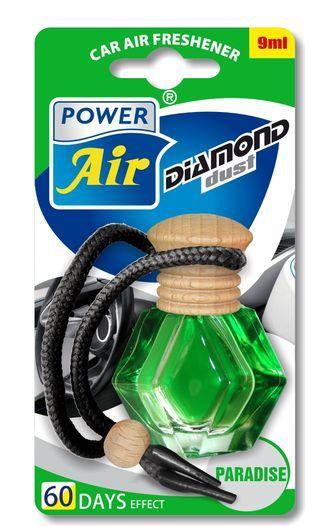 Power Air Osvěžovač ve tvaru diamantu s dřevěným víčkem 9 ml Paradise