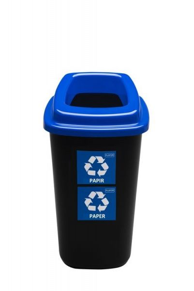 Plafor Odpadkový koš na tříděný odpad 45 l - modrý, papír