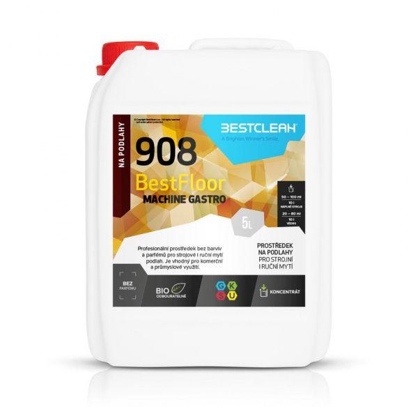 BESTCLEAN 908 gastro strojové mytí podlah, nano ochrana bez parfemace - 5 l