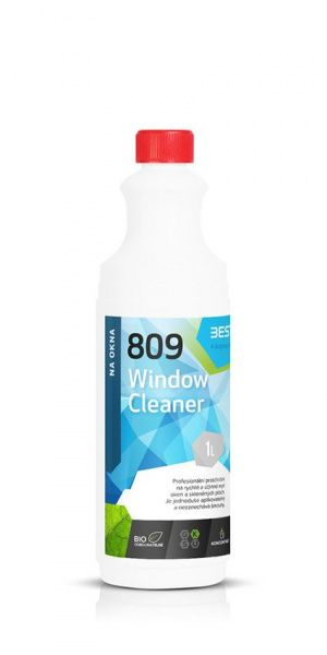 BESTCLEAN 809 mytí oken, nano ochrana - green herbs 1 l