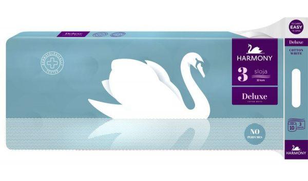 Toaletní papír Harmony Cotton DELUXE 3 vrstvy - 10 kusů