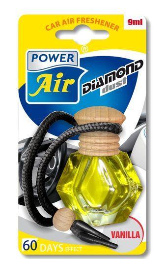 Power Air Osvěžovač ve tvaru diamantu s dřevěným víčkem 9 ml Vanilka