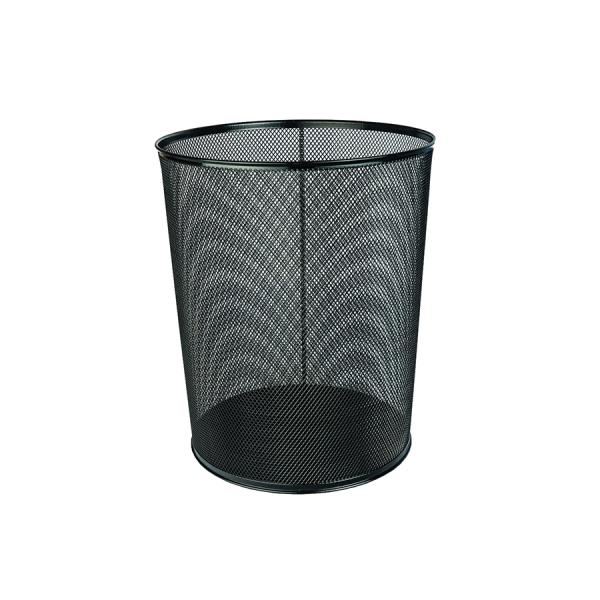 Odpadkový koš kancelářský kovový černý - 14 l