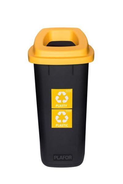 Plafor Odpadkový koš na tříděný odpad 90 l - žlutý, plast